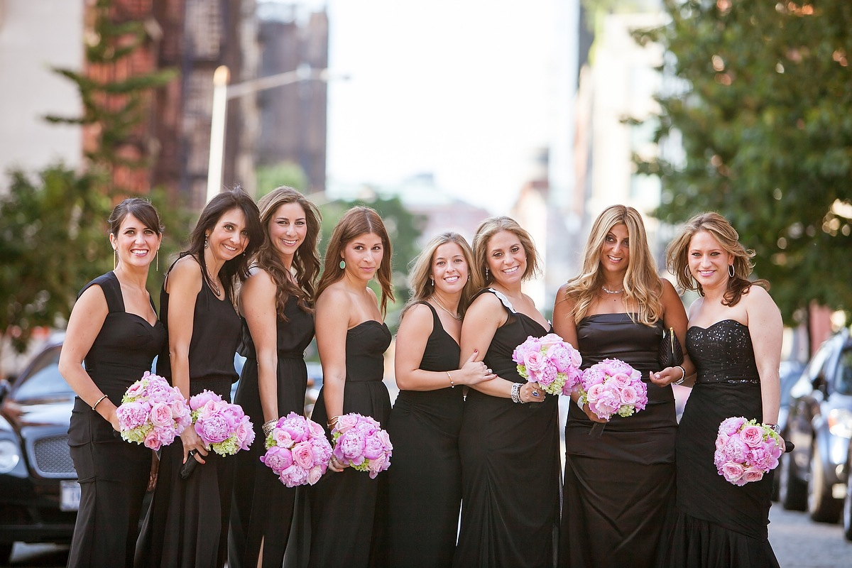 Real Weddings, Wedding Style, Northeast Real Weddings, Classic Weddings, Classic Real Weddings, Fashion, Bridesmaid Dresses, black, City Real Weddings
