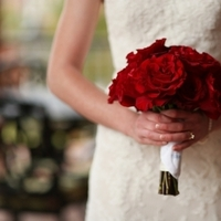 Flowers & Decor, Real Weddings, Wedding Style, red, Bride Bouquets, Fall Weddings, Northeast Real Weddings, Classic Real Weddings, Fall Real Weddings, Classic Weddings, Classic Wedding Flowers & Decor, Roses, Crimson