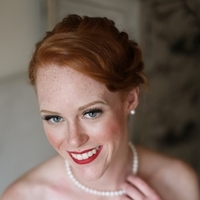 Beauty, Real Weddings, Wedding Style, red, Makeup, Updo, Fair Complexion, Fall Weddings, Northeast Real Weddings, Classic Real Weddings, Fall Real Weddings, Classic Weddings, Crimson