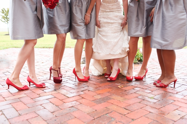 Bridesmaids, Shoes, Real Weddings, Wedding Style, red, Fall Weddings, Northeast Real Weddings, Classic Real Weddings, Fall Real Weddings, Classic Weddings, Crimson