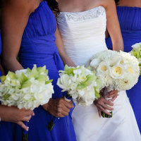 Flowers & Decor, Real Weddings, Wedding Style, blue, Bridesmaid Bouquets, Modern Real Weddings, West Coast Real Weddings, Classic Real Weddings, Classic Weddings, Modern Weddings