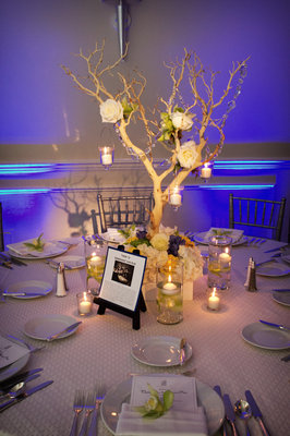 Flowers & Decor, Real Weddings, Wedding Style, blue, Centerpieces, Tables & Seating, Modern Real Weddings, West Coast Real Weddings, Classic Real Weddings, Classic Weddings, Modern Weddings, Modern Wedding Flowers & Decor