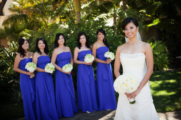 Bridesmaids Dresses, Fashion, Real Weddings, Wedding Style, blue, Modern Real Weddings, West Coast Real Weddings, Classic Real Weddings, Classic Weddings, Modern Weddings