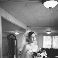 Real Weddings, Bride, Black and white, Desert, Bridal portrait, rustic romance
