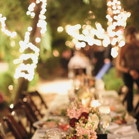 Reception, Flowers & Decor, Real Weddings, Wedding Style, pink, red, Centerpieces, Rustic, Lighting, Outdoor, West Coast Real Weddings, Rustic Weddings, Desert, Moss, Tabletop, Candlelight, West Coast Weddings, rustic romance