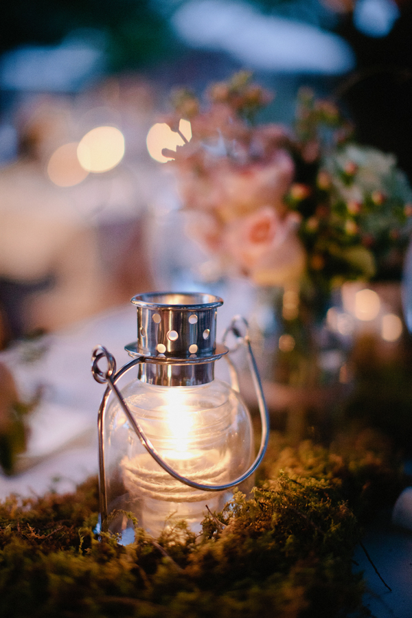Real Weddings, Lighting, Centerpiece, Candle, Desert, Lantern, Moss, Candlelight, rustic romance