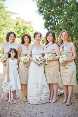 Bridesmaids Dresses, Fashion, Real Weddings, Wedding Style, Summer Weddings, West Coast Real Weddings, Summer Real Weddings, Vineyard Real Weddings, Vineyard Weddings, Tan