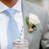 Flowers & Decor, Real Weddings, Wedding Style, Boutonnieres, Spring Weddings, Classic Real Weddings, Spring Real Weddings, Classic Weddings, Cocktails, Pastel, Food & Drink, preppy weddings, preppy real weddings