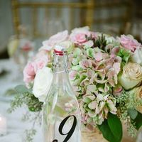 Flowers & Decor, Real Weddings, Wedding Style, Centerpieces, Table Numbers, Spring Weddings, Classic Real Weddings, Spring Real Weddings, Classic Weddings, Spring Wedding Flowers & Decor, Pastel, preppy weddings, preppy real weddings