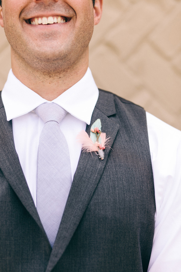 Flowers & Decor, Fashion, Real Weddings, Wedding Style, purple, Men's Formal Wear, Boutonnieres, Southern Real Weddings, Summer Weddings, Summer Real Weddings, Pastel, preppy weddings, preppy real weddings
