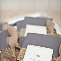 Stationery, Real Weddings, Wedding Style, gray, Beach Wedding Invitations, Invitations, Ceremony Programs, Beach Real Weddings, Beach Weddings