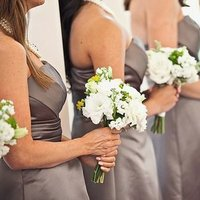 Flowers & Decor, Real Weddings, Wedding Style, white, green, gray, Bridesmaid Bouquets, Beach Real Weddings, Summer Weddings, Summer Real Weddings, Beach Weddings, Classic Weddings, Classic Flowers & Decor, Beach Flowers & Decor, Summer Flowers & Decor