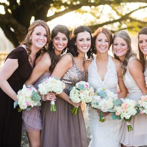 Real Weddings, brown, Bridesmaid Bouquets, Rustic Real Weddings, Southern Real Weddings, Rustic Weddings