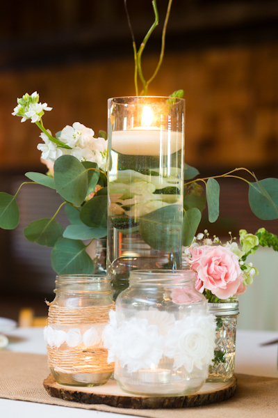 Real Weddings, pink, brown, Centerpieces, Rustic Real Weddings, Southern Real Weddings, Rustic Weddings, Rustic Wedding Flowers & Decor