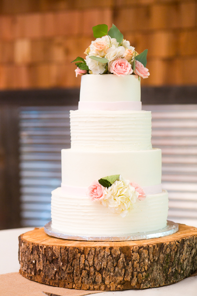 Cakes, Real Weddings, white, pink, green, Floral Wedding Cakes, Wedding Cakes, Rustic Real Weddings, Southern Real Weddings, Rustic Weddings