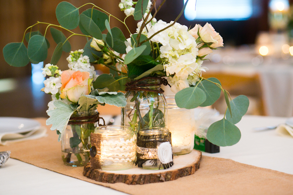Real Weddings, green, brown, Centerpieces, Rustic Real Weddings, Southern Real Weddings, Rustic Weddings, Rustic Wedding Flowers & Decor