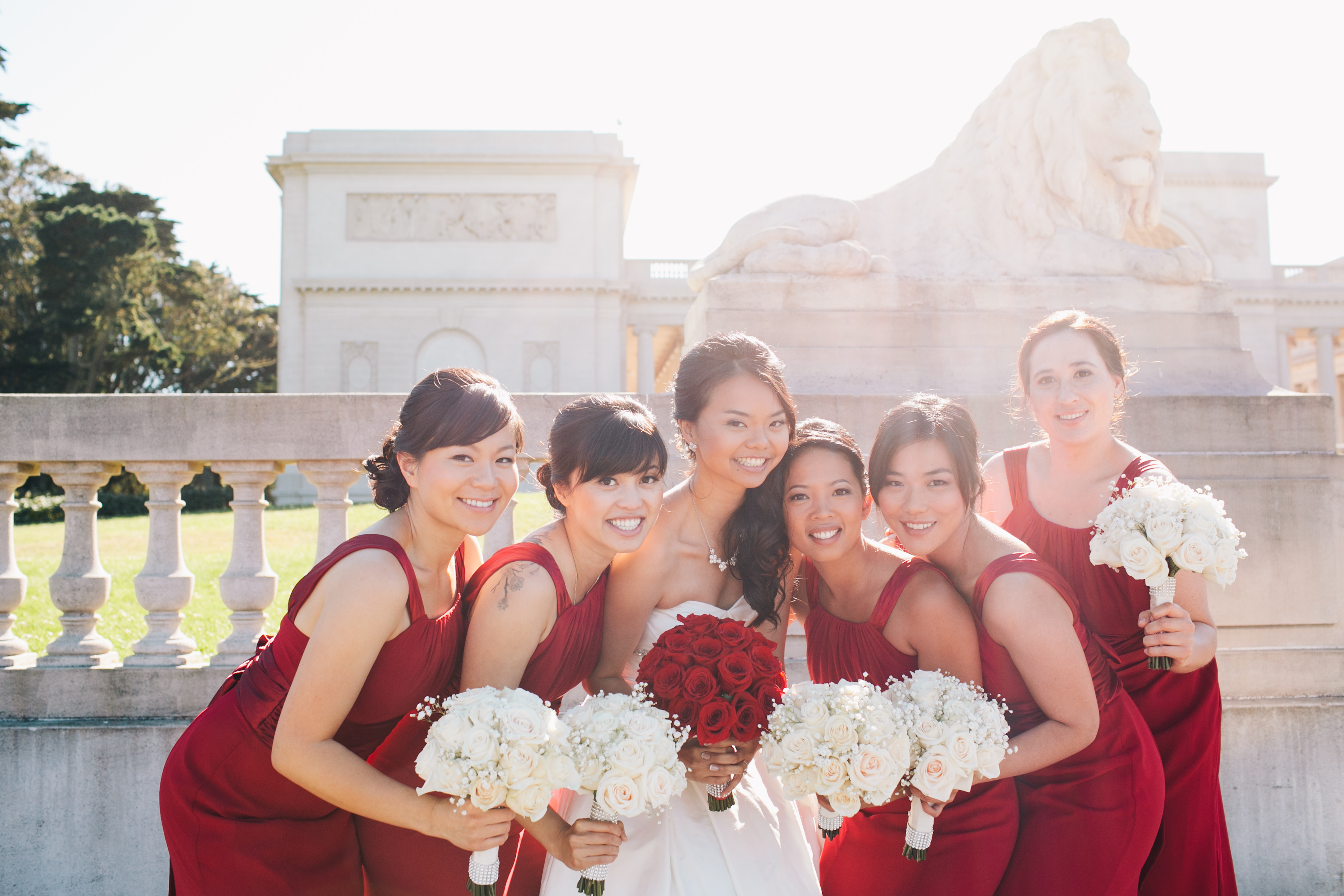 Real Weddings, Wedding Style, red, Fall Weddings, West Coast Real Weddings, Fall Real Weddings, Bridal party, Red bridesmaid dresses, Crimson, West Coast Weddings, Romantic Real Weddings, Glamorous Real Weddings, Glamorous Weddings, Romantic Real Wedding