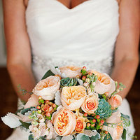 Flowers & Decor, Real Weddings, Wedding Style, pink, Bride Bouquets, Summer Weddings, West Coast Real Weddings, Summer Real Weddings, Summer Wedding Flowers & Decor, Peach
