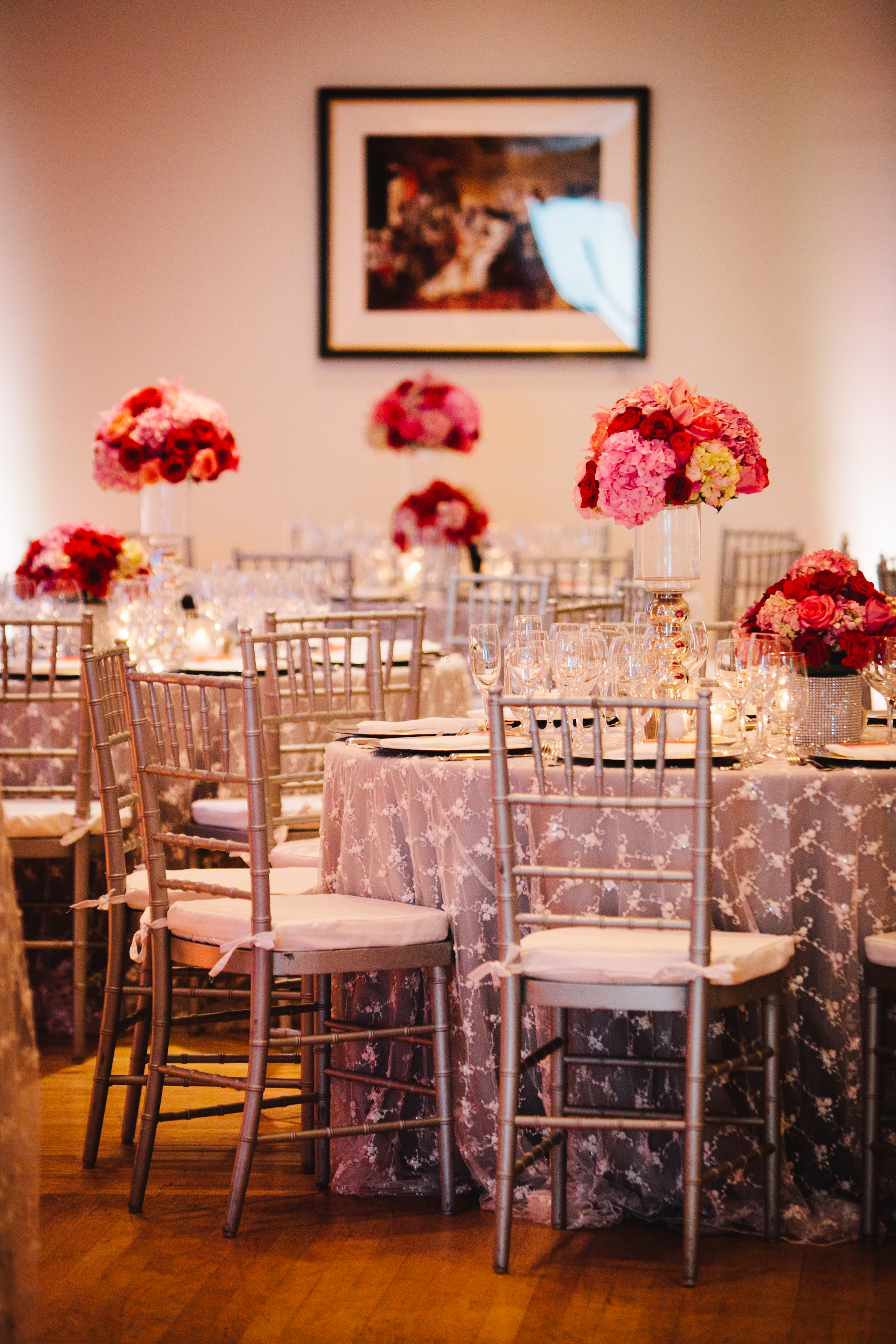 Reception, Flowers & Decor, Real Weddings, red, Centerpieces, Fall Weddings, West Coast Real Weddings, Fall Real Weddings, Crimson, West Coast Weddings, Romantic Real Weddings, Glamorous Real Weddings, Glamorous Weddings, Romantic Real Wedding