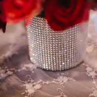 Real Weddings, red, Centerpieces, Fall Weddings, West Coast Real Weddings, Fall Real Weddings, Rhinestones, Crimson, West Coast Weddings, Romantic Real Weddings, Glamorous Real Weddings, Glamorous Weddings, Romantic Real Wedding