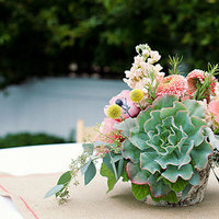 Flowers & Decor, Real Weddings, Wedding Style, green, Centerpieces, Summer Weddings, West Coast Real Weddings, Summer Real Weddings, Summer Wedding Flowers & Decor