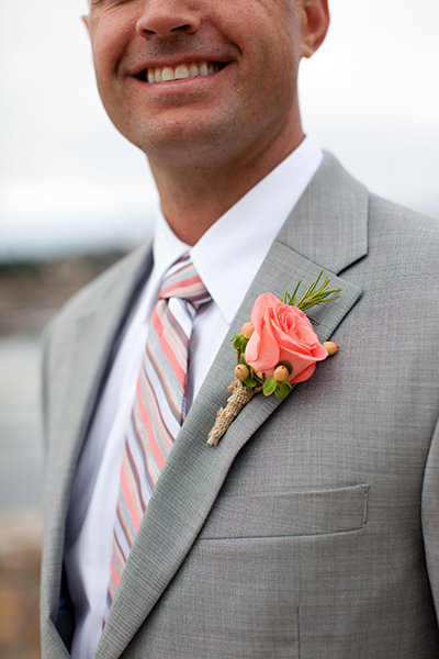 Flowers & Decor, Real Weddings, Wedding Style, Boutonnieres, Summer Weddings, West Coast Real Weddings, Summer Real Weddings, men's formal attire