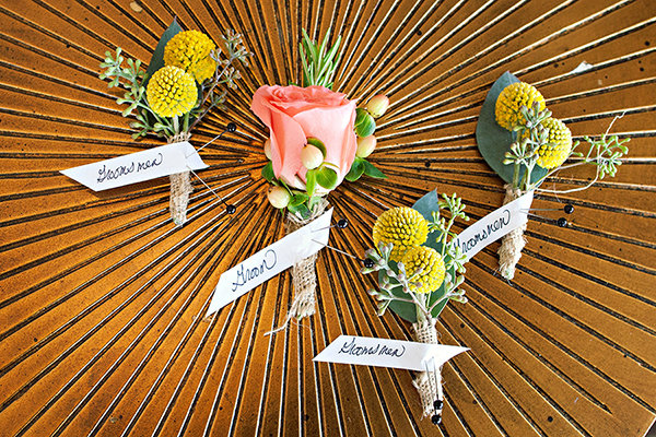 Flowers & Decor, Real Weddings, Wedding Style, Boutonnieres, Summer Weddings, West Coast Real Weddings, Summer Real Weddings, Summer Wedding Flowers & Decor, Pastel