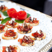 Real Weddings, Wedding Style, red, Summer Weddings, West Coast Real Weddings, Summer Real Weddings, Bruschetta, Food & Drink