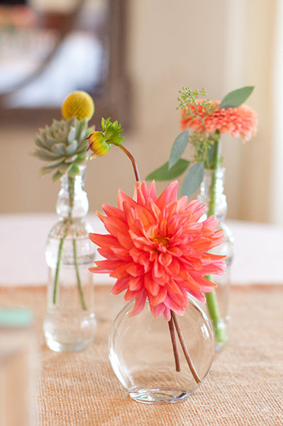 Flowers & Decor, Real Weddings, Wedding Style, pink, Centerpieces, Summer Weddings, West Coast Real Weddings, Summer Real Weddings, Summer Wedding Flowers & Decor
