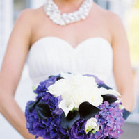 Flowers & Decor, Real Weddings, Wedding Style, purple, Bride Bouquets, Northeast Real Weddings, Glam Real Weddings, Glam Weddings, Glam Wedding Flowers & Decor