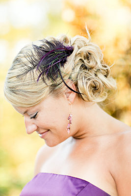 Beauty, Real Weddings, Wedding Style, Updo, Feathers, Northeast Real Weddings, Glam Real Weddings, Glam Weddings