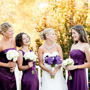 Bridesmaid Dresses, Fashion, Real Weddings, Wedding Style, purple, Northeast Real Weddings, Glam Real Weddings, Glam Weddings