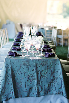 Flowers & Decor, Real Weddings, Wedding Style, purple, gray, Tables & Seating, Northeast Real Weddings, Glam Real Weddings, Glam Weddings, Glam Wedding Flowers & Decor