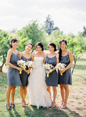 Bridesmaids Dresses, Bridesmaid Dresses, Fashion, Real Weddings, Wedding Style, Summer Weddings, West Coast Real Weddings, Summer Real Weddings, Grey, preppy weddings, preppy real weddings
