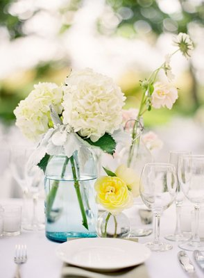 Flowers & Decor, Real Weddings, Wedding Style, Centerpieces, Summer Weddings, West Coast Real Weddings, Summer Real Weddings, preppy weddings, preppy real weddings