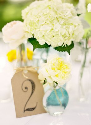 Flowers & Decor, Real Weddings, Wedding Style, Centerpieces, Table Numbers, Summer Weddings, West Coast Real Weddings, Summer Real Weddings, preppy weddings, preppy real weddings