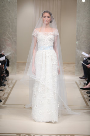 Wedding Dresses, A-line Wedding Dresses, Fashion, ivory, blue, A-line, Off the shoulder, Natural waist, Tulle, Embroidery, Bohemian, Reem acra, floor length, cap sleeve, short sleeve, Off the Shoulder Wedding Dresses, tulle wedding dresses