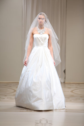 Wedding Dresses, Ball Gown Wedding Dresses, Fashion, ivory, Modern, Strapless, Strapless Wedding Dresses, Natural waist, Satin, Chapel, Silk, Reem acra, Ball gown, floor length, Modern Wedding Dresses, satin wedding dresses, Silk Wedding Dresses