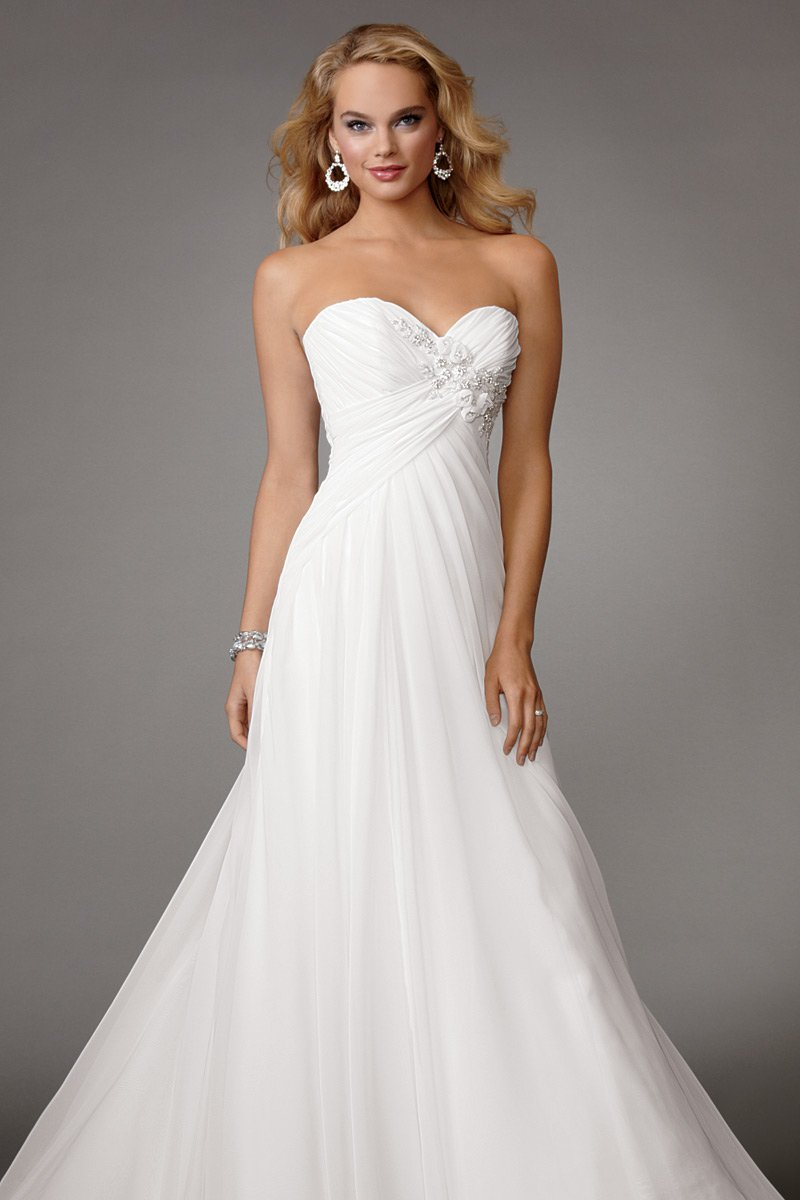 Wedding Dresses, Sweetheart Wedding Dresses, A-line Wedding Dresses, Fashion, white, Flowers, Boho Chic, Sweetheart, Strapless, Strapless Wedding Dresses, A-line, Beading, Empire, Floor, Chiffon, Country, Pleats, Ruching, Reflections by jordan, Beaded Wedding Dresses, Boho Chic Wedding Dresses, Flower Wedding Dresses, Chiffon Wedding Dresses, Floor Wedding Dresses