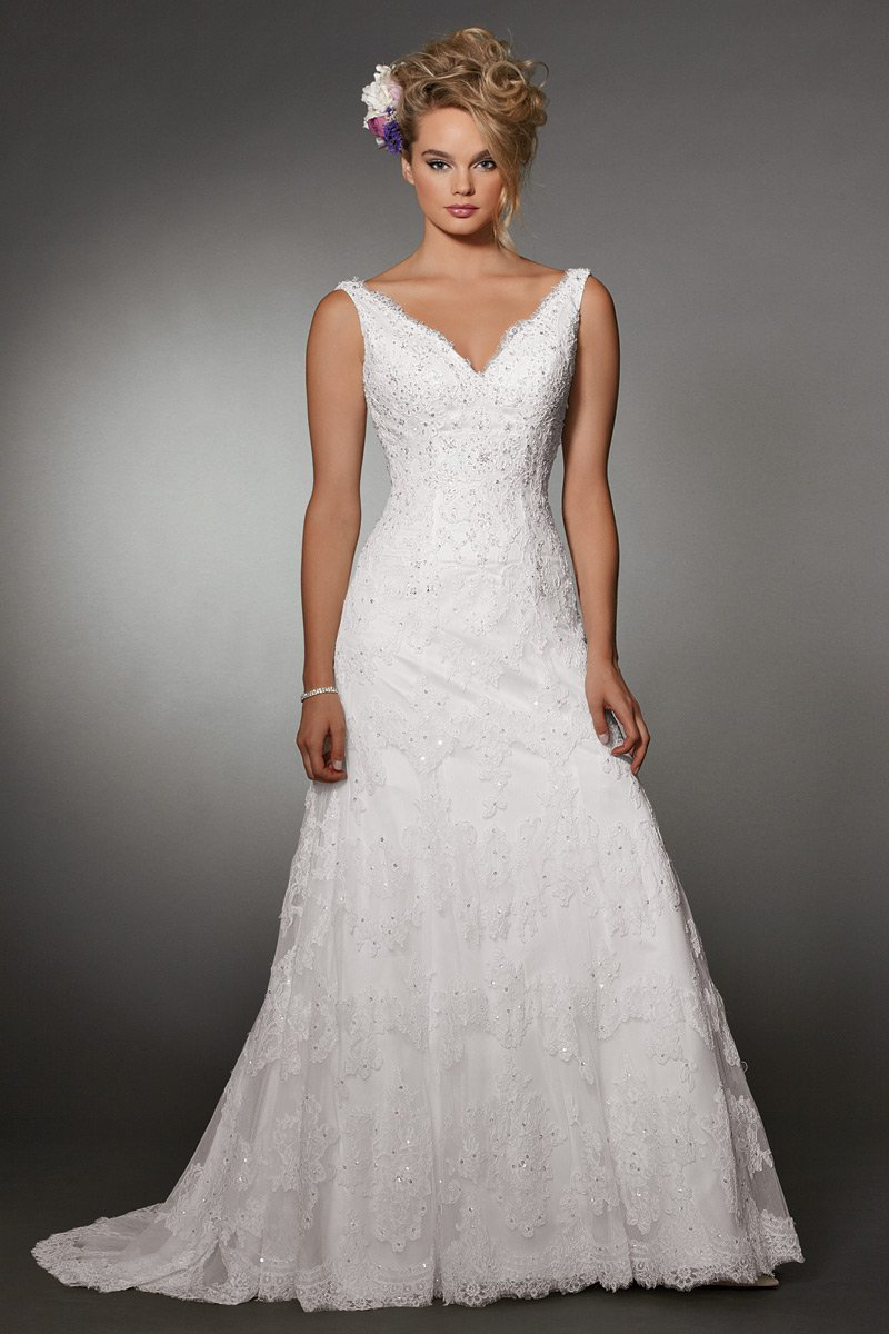 Wedding Dresses, A-line Wedding Dresses, Lace Wedding Dresses, Fashion, white, Summer, Classic, Vineyard, Lace, A-line, Beading, V-neck, V-neck Wedding Dresses, Floor, Formal, Ballroom, Sleeveless, Reflections by jordan, historic site, Beaded Wedding Dresses, Classic Wedding Dresses, Formal Wedding Dresses, Summer Wedding Dresses, Floor Wedding Dresses