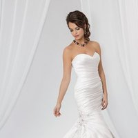 Wedding Dresses, Sweetheart Wedding Dresses, Mermaid Wedding Dresses, Fashion, white, Sweetheart, Strapless, Strapless Wedding Dresses, Beading, Satin, Floor, Formal, Ballroom, Pleats, Ruching, Reflections by jordan, Mermaid/Trumpet, historic site, modern space, Beaded Wedding Dresses, trumpet wedding dresses, satin wedding dresses, Formal Wedding Dresses, Floor Wedding Dresses