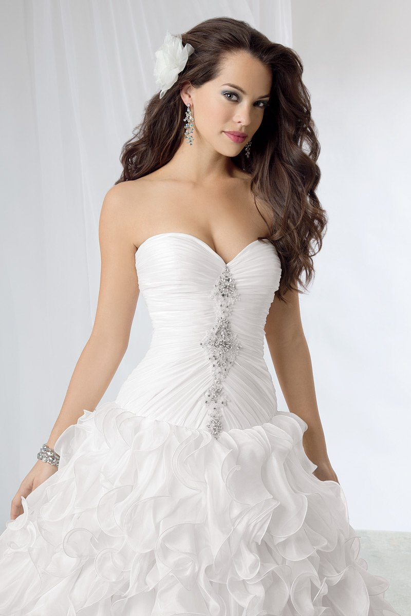 Wedding Dresses, Sweetheart Wedding Dresses, Ball Gown Wedding Dresses, Ruffled Wedding Dresses, Fashion, white, Sweetheart, Strapless, Strapless Wedding Dresses, Beading, Floor, Formal, Organza, Ballroom, Ruffles, Dropped, Ruching, Ball gown, Reflections by jordan, modern space, Beaded Wedding Dresses, organza wedding dresses, Formal Wedding Dresses, Floor Wedding Dresses