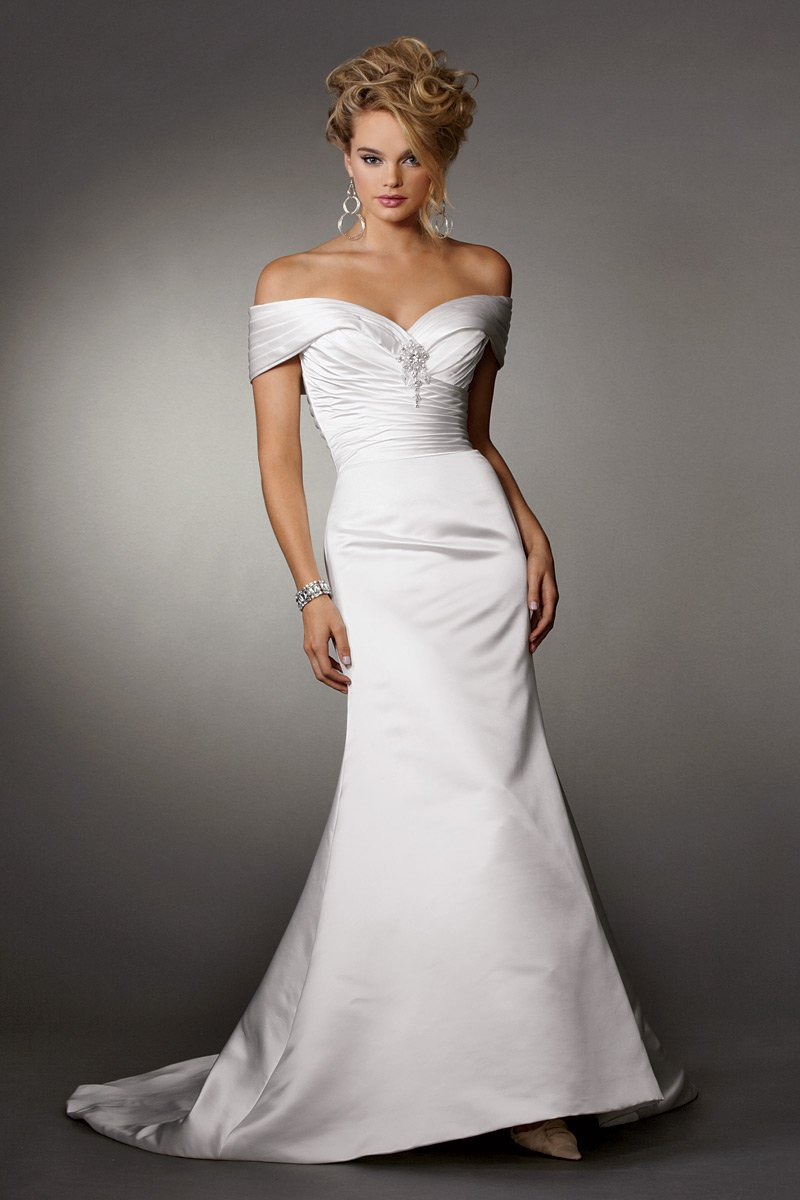 Wedding Dresses, Mermaid Wedding Dresses, Fashion, white, Winter, Strapless, Strapless Wedding Dresses, Off the shoulder, Beading, Satin, Floor, Formal, Natural, Ballroom, Country club, Ruching, Reflections by jordan, Mermaid/Trumpet, Off the Shoulder Wedding Dresses, Beaded Wedding Dresses, trumpet wedding dresses, winter wedding dresses, satin wedding dresses, Formal Wedding Dresses, Floor Wedding Dresses