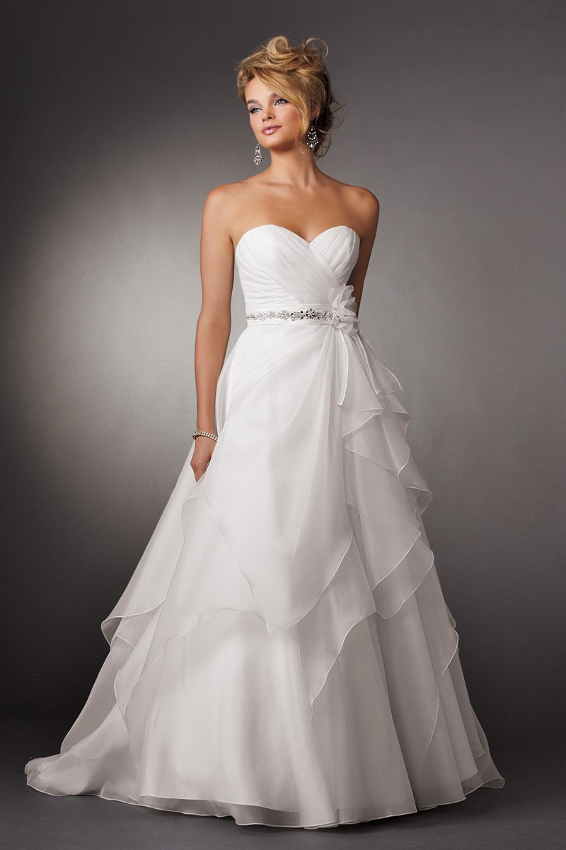 Wedding Dresses, Sweetheart Wedding Dresses, A-line Wedding Dresses, Fashion, white, Modern, Flowers, Sweetheart, Strapless, Strapless Wedding Dresses, A-line, Beading, Floor, Organza, Natural, Hip, Pleats, Reflections by jordan, Sash/Belt, modern space, Modern Wedding Dresses, Beaded Wedding Dresses, organza wedding dresses, Flower Wedding Dresses, Floor Wedding Dresses, Hip Wedding Dresses, Sash Wedding Dresses, Belt Wedding Dresses