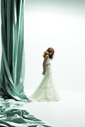 Wedding Dresses, A-line Wedding Dresses, Lace Wedding Dresses, Romantic Wedding Dresses, Fashion, Classic, Romantic, Lace, Elegant, Strapless, Strapless Wedding Dresses, A-line, Beading, Rivini, Ribbons, Sashes, floor length, Beaded Wedding Dresses, Classic Wedding Dresses