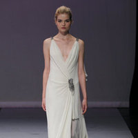 Wedding Dresses, Fashion, Modern, Beading, V-neck, V-neck Wedding Dresses, Sheath, Applique, Rivini, Satin, Chiffon, Silk, Bohemian, Tank, Sleeveless, floor length, Modern Wedding Dresses, Beaded Wedding Dresses, satin wedding dresses, Sheath Wedding Dresses, Chiffon Wedding Dresses, Silk Wedding Dresses
