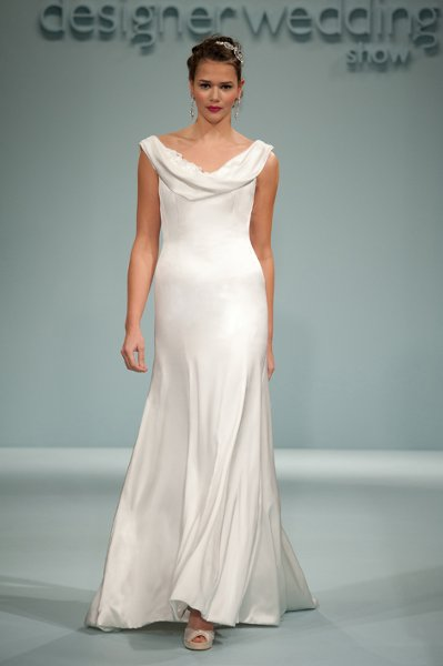 Wedding Dresses, Fashion, Classic, Elegant, Scoop neck, Simple, Sleek, Sassi holford, Classic Wedding Dresses, draped neck