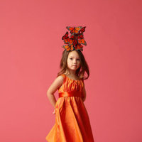 Flower Girl Dresses, Fashion, orange, Ribbons, Sashes, Silk, Seahorse, Sleeveless, knee length, Silk Wedding Dresses