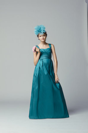 Flower Girl Dresses, Fashion, Seahorse, Taffeta, Sleeveless, floor length, square neck, taffeta wedding dresses