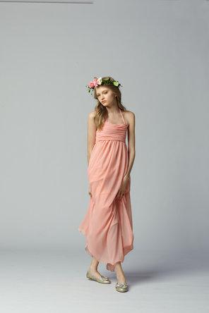 Flower Girl Dresses, A-line Wedding Dresses, Fashion, A-line, Halter, Chiffon, Seahorse, Sleeveless, empire waist, floor length, halter wedding dresses, Chiffon Wedding Dresses